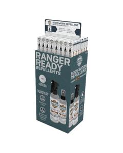 Ranger Ready Repellent 48 Unit Free Standing Display | Scent Zero + Ranger Orange | Boxed 150ml | 5.0 oz
