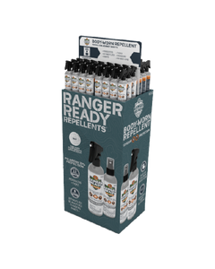 Ranger Ready Repellent 48 Unit Free Standing Display | Scent Zero | 235ml | 8.0 oz